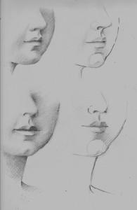étude visage